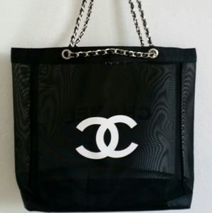 New Chanel VIP beauty gift tote gold